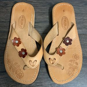 NEW Floral, Mexican, Thong Sandal